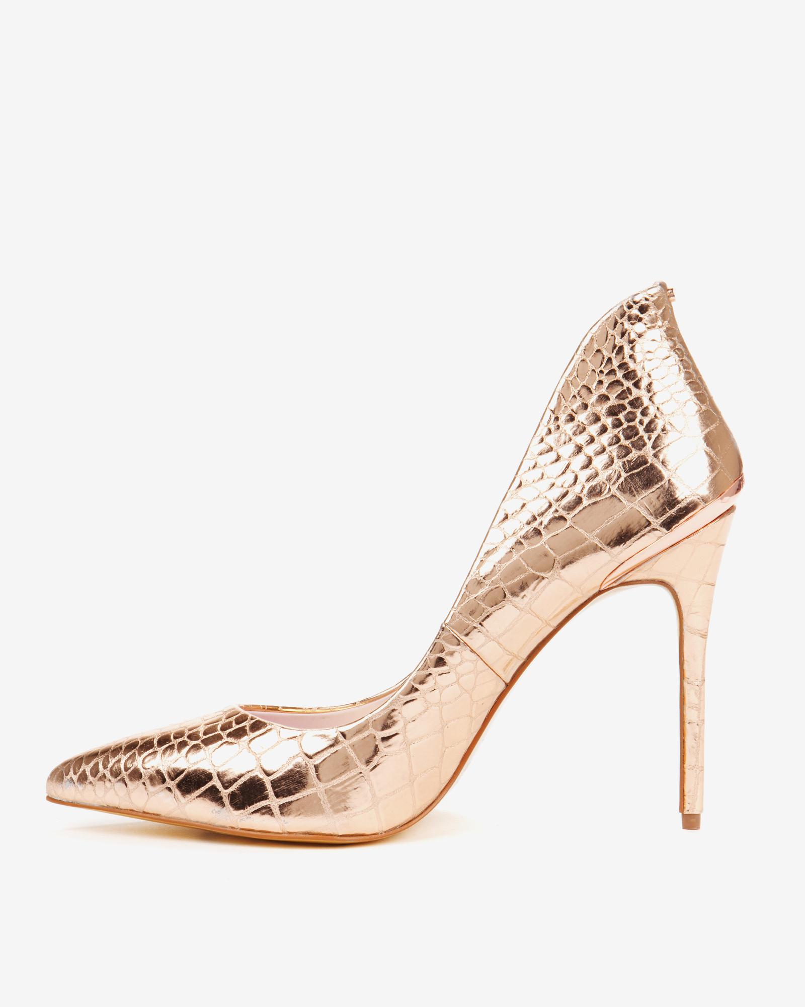 Gold Court Heels