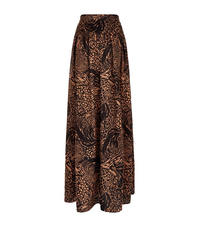 chlo 233 leopard print maxi skirt lyst