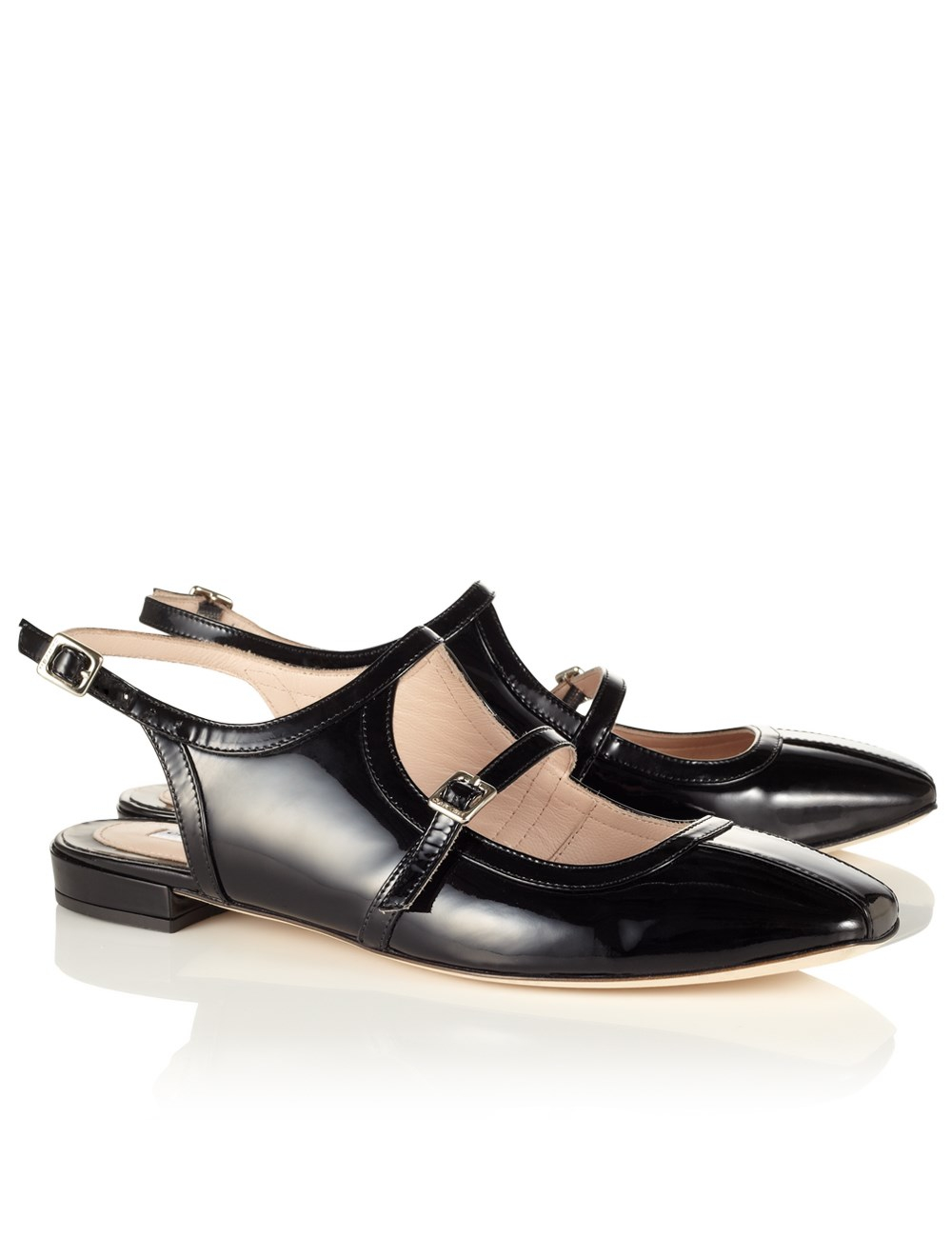 carven black patent leather shoes in black lyst