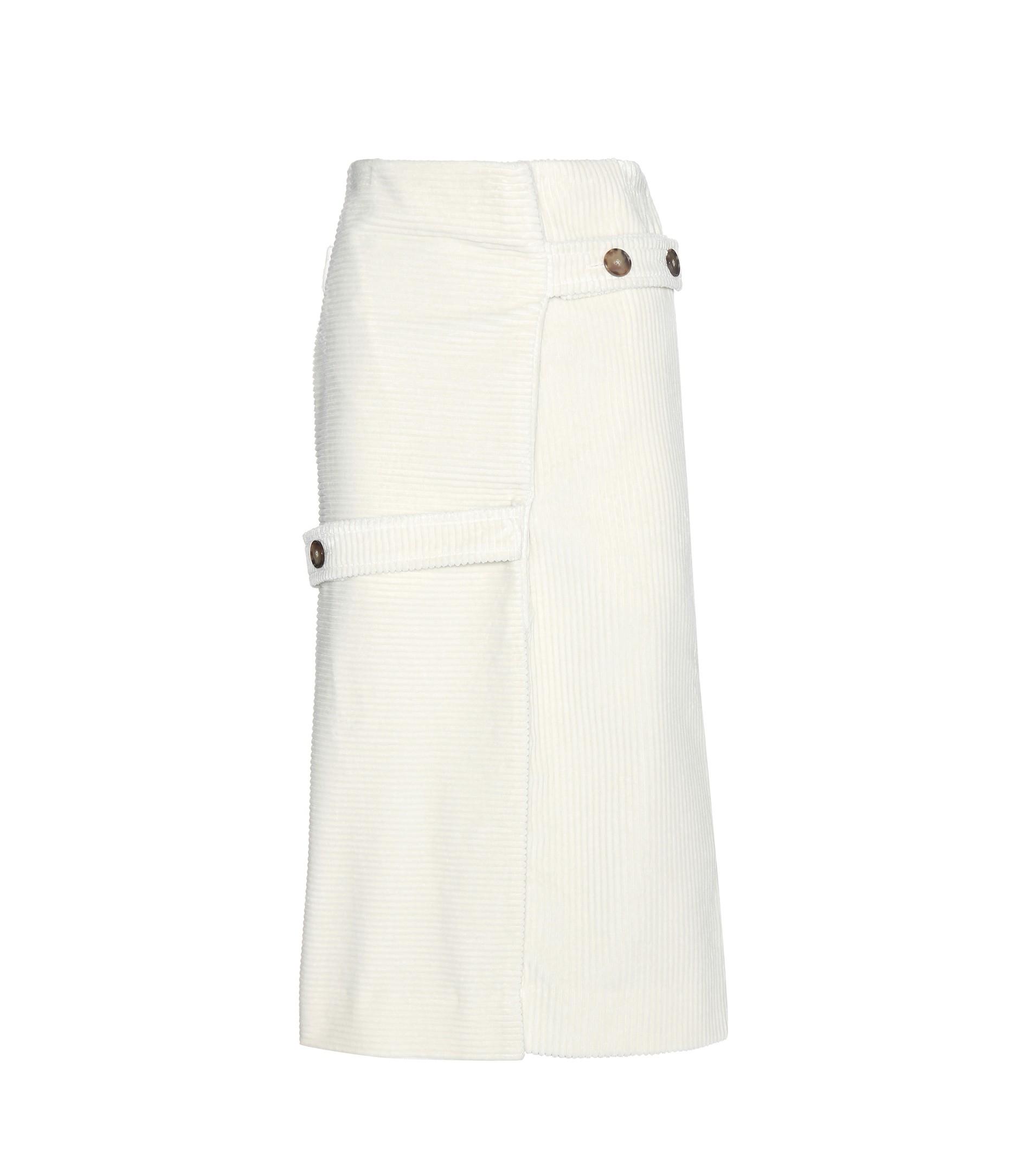 4bda158459 Victoria Beckham Corduroy Skirt in Natural - Lyst