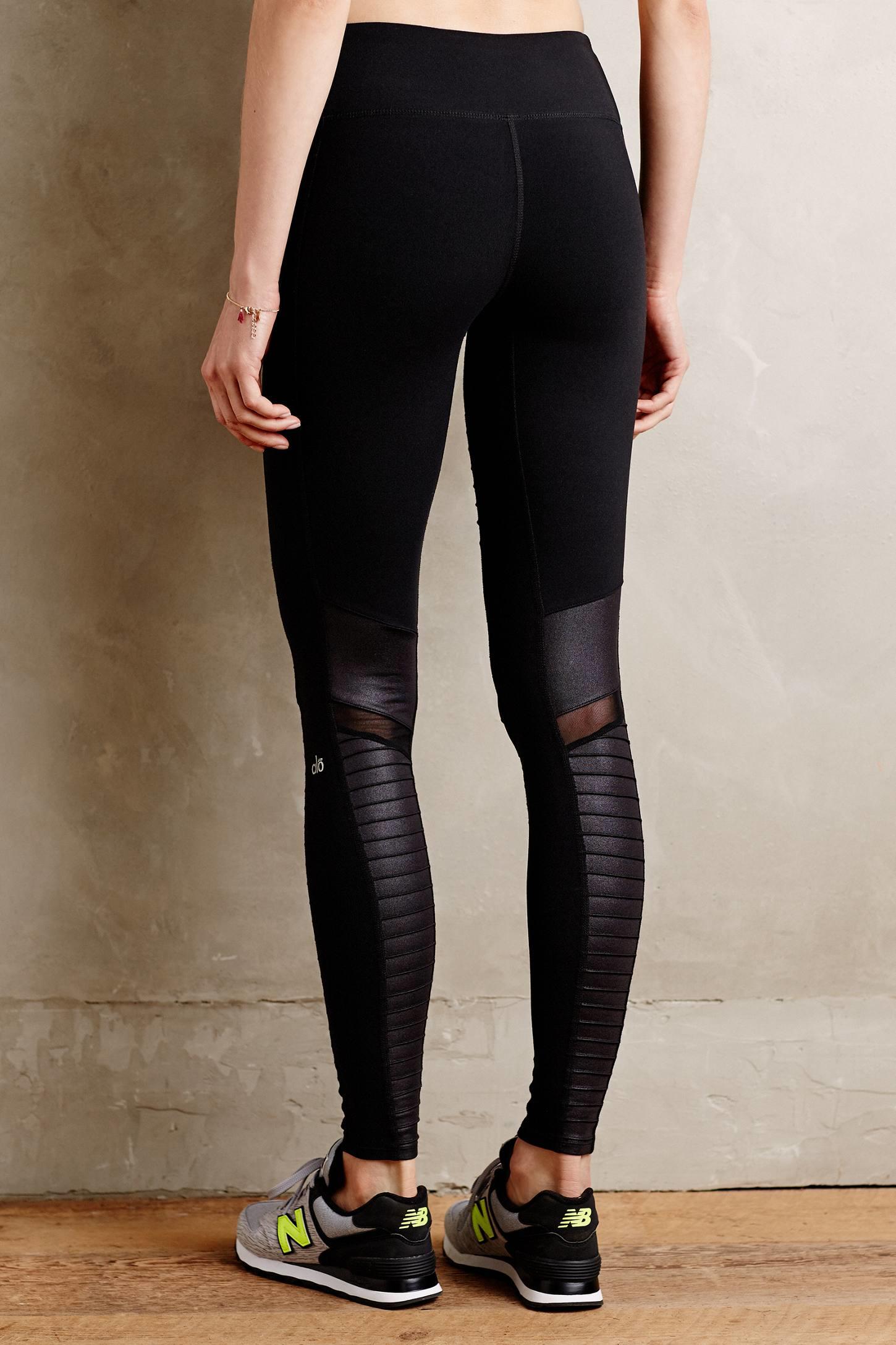 Alo yoga Moto Performance Leggings in Black