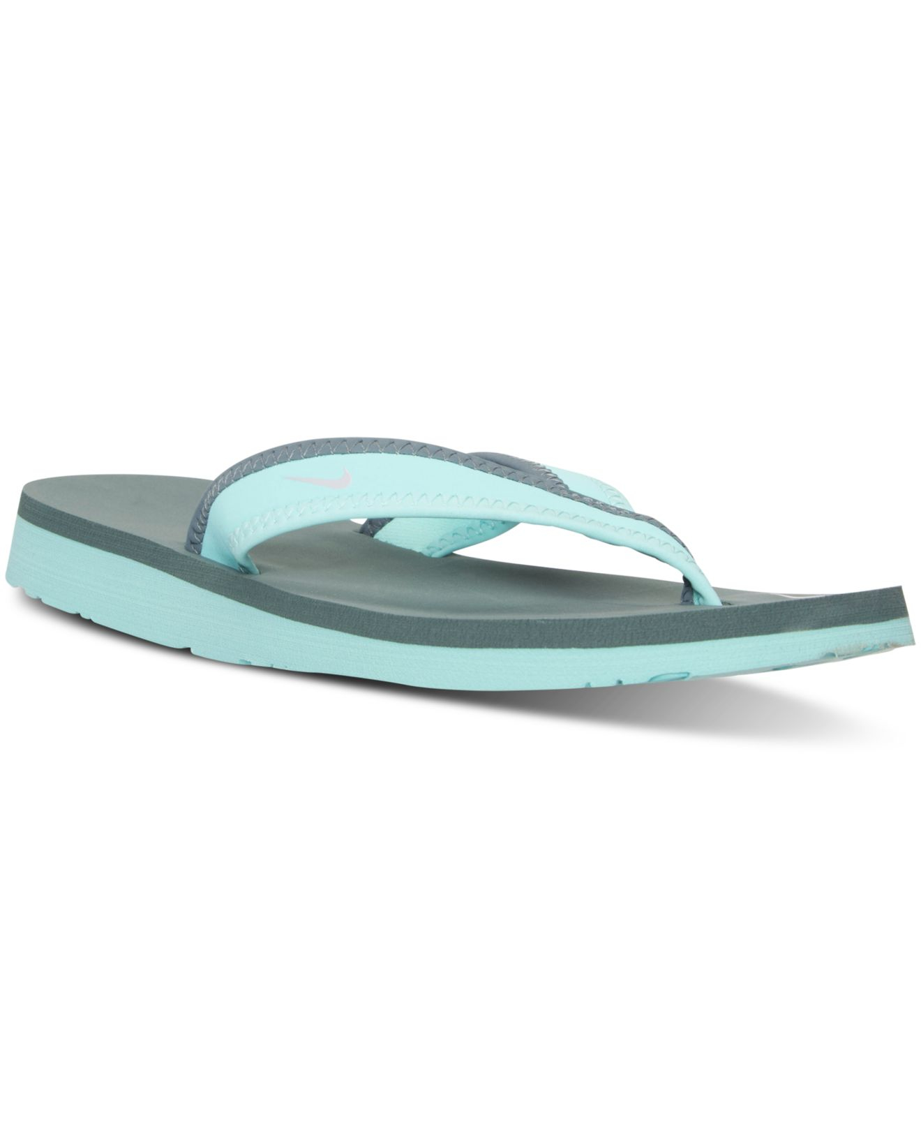 c18bd6071391 Lyst - Nike Women s Celso Girl Thong Sandals From Finish Line in Blue