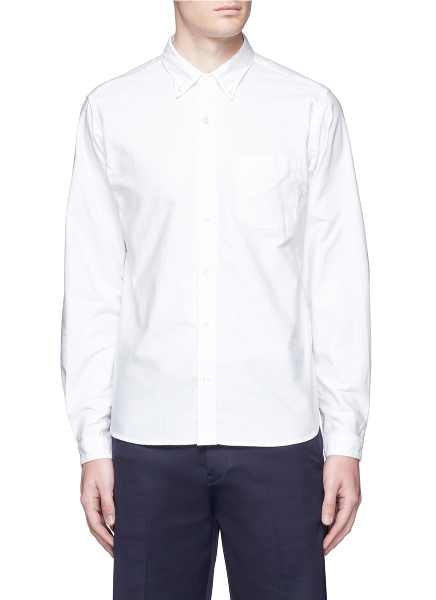 Nanamica Button Down Collar Cotton Oxford Wind Shirt In