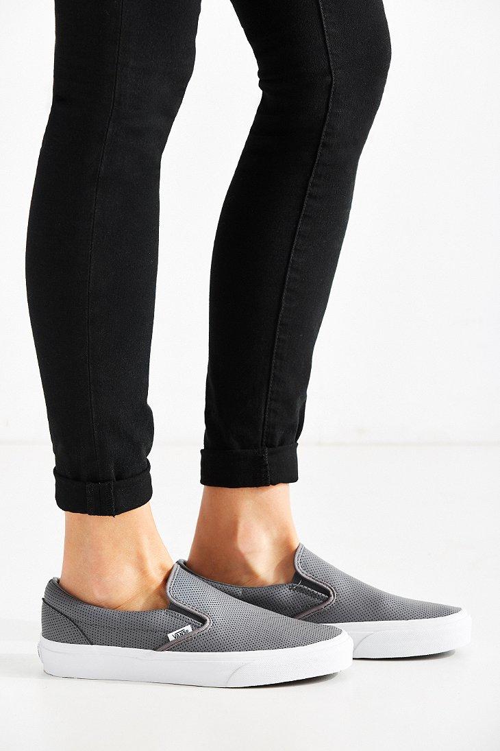 vans classic perforated slip on sneaker