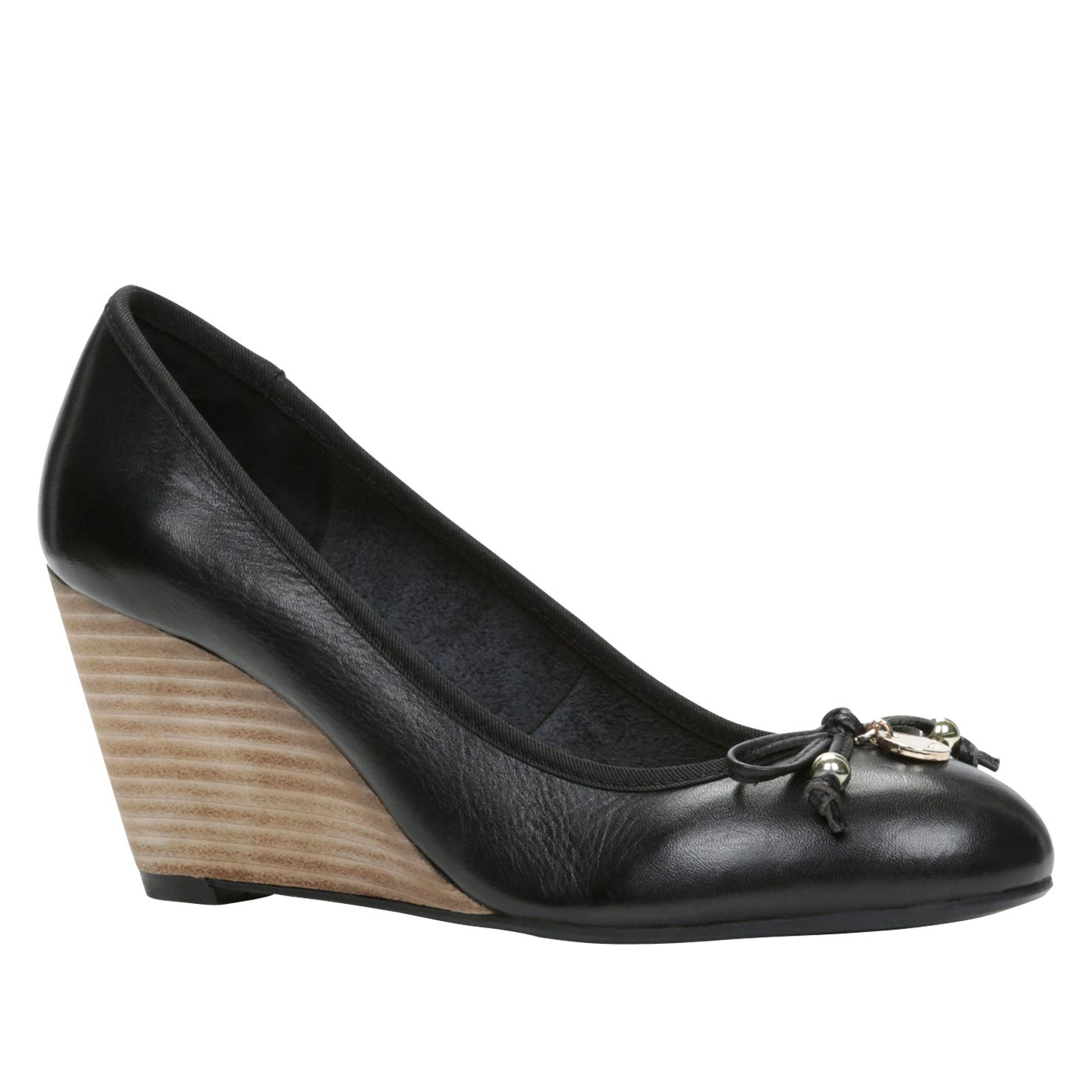 Black Wedge Work Shoes