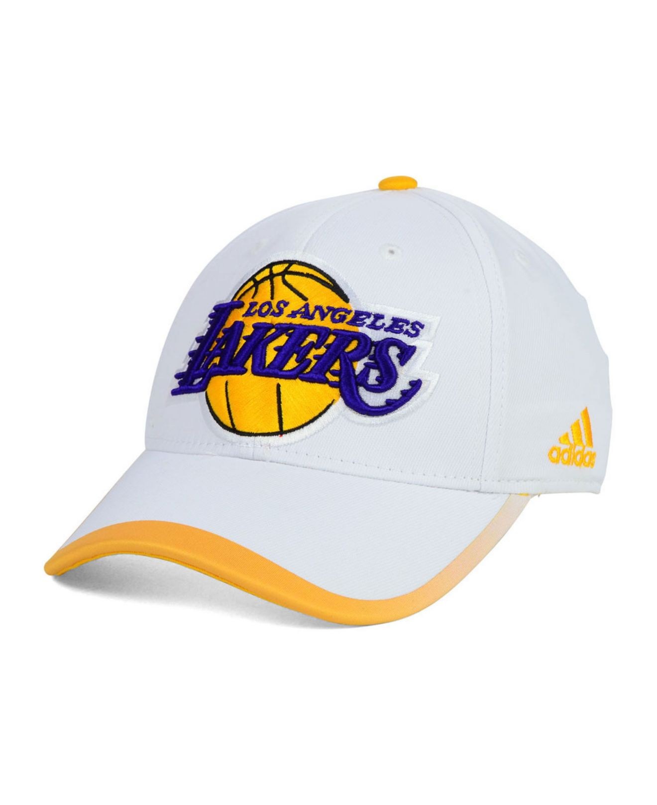 27f996b8a32 Lyst - adidas Los Angeles Lakers Timeout Flex Cap in White for Men