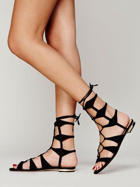 Black Lace up Sandals uk Lace-up Sandals in Black