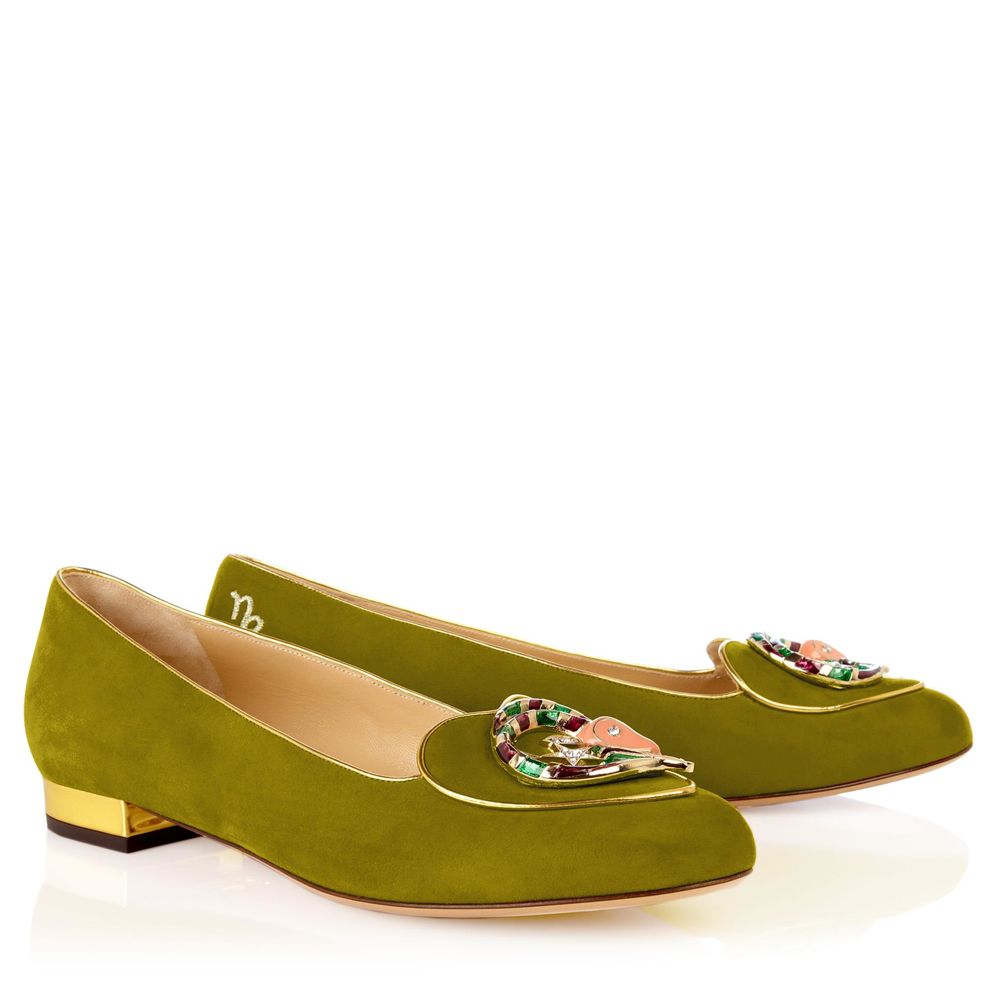 Lyst - Charlotte Olympia Birthday Shoes Capricorn in Green 1fab69597707
