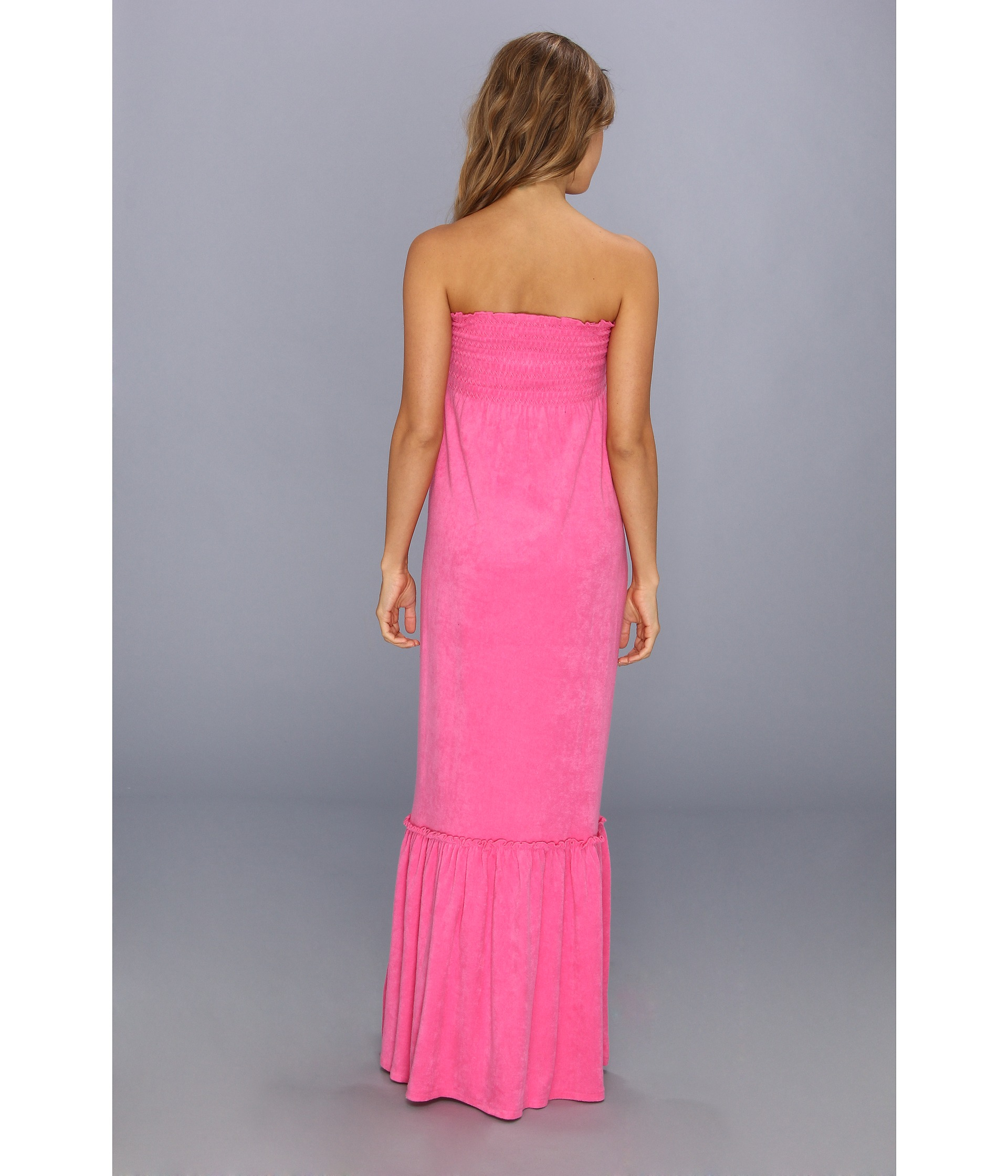 f1580c0e5e Lyst - Juicy Couture Micro Terry Smock Dress in Pink