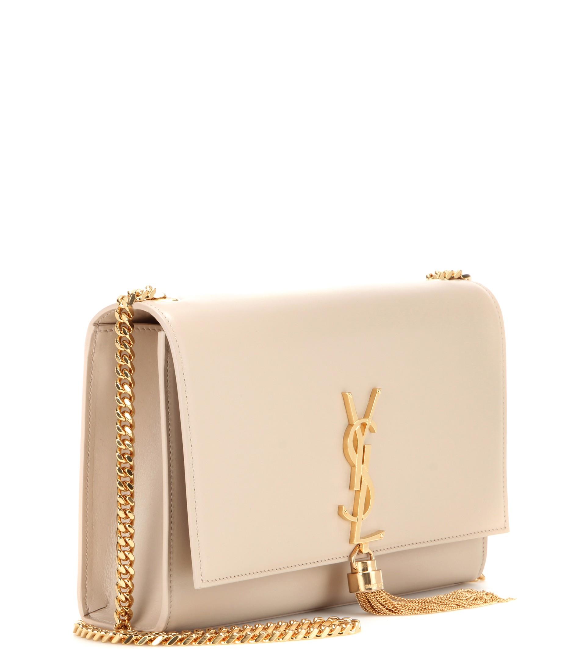Lyst - Saint Laurent Classic Small Monogram Leather Shoulder Bag in Pink 66066d0a03572