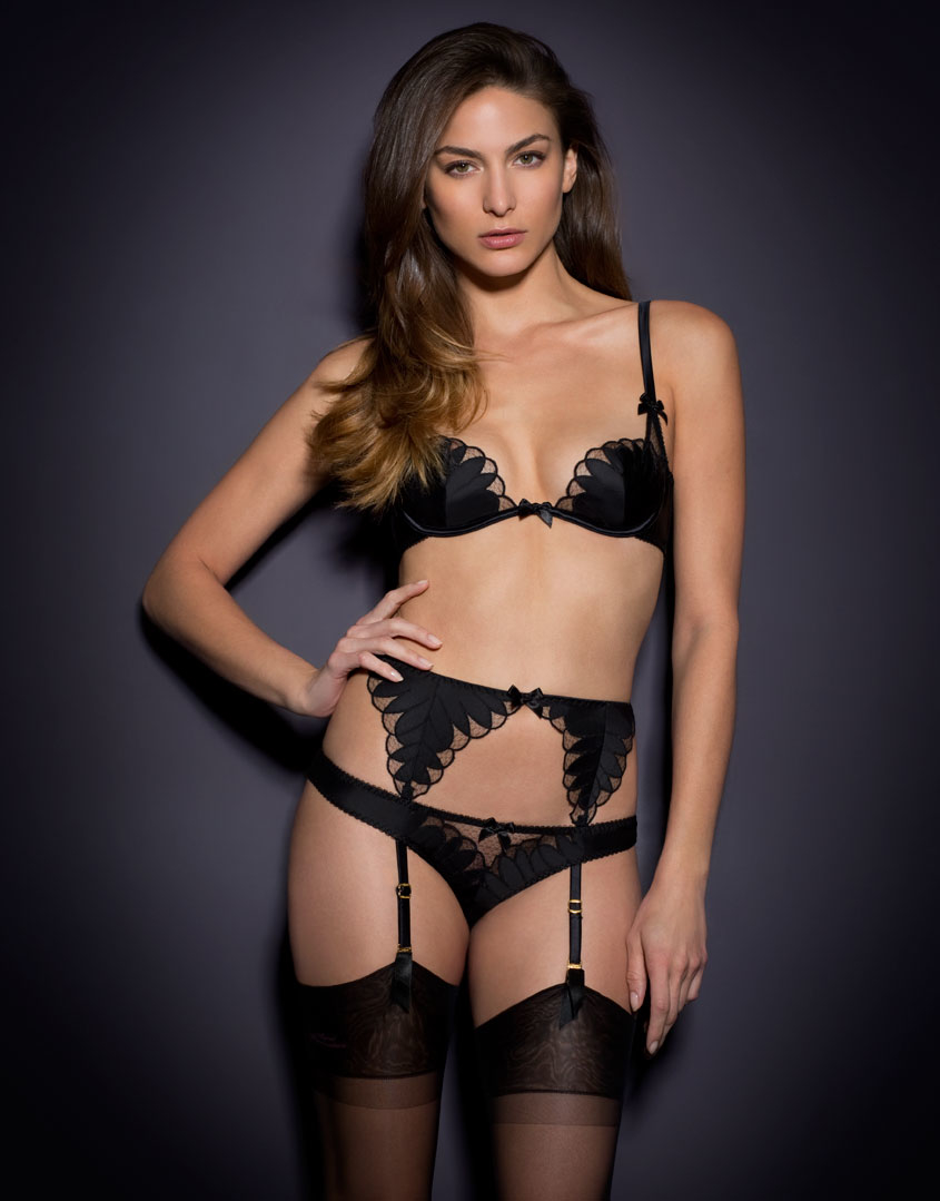 AGENT PROVOCATEUR ELLIN BRA BRIEF   SUSPENDER SET BNWT 34DD MEDIUM ... 4f6e9a58b
