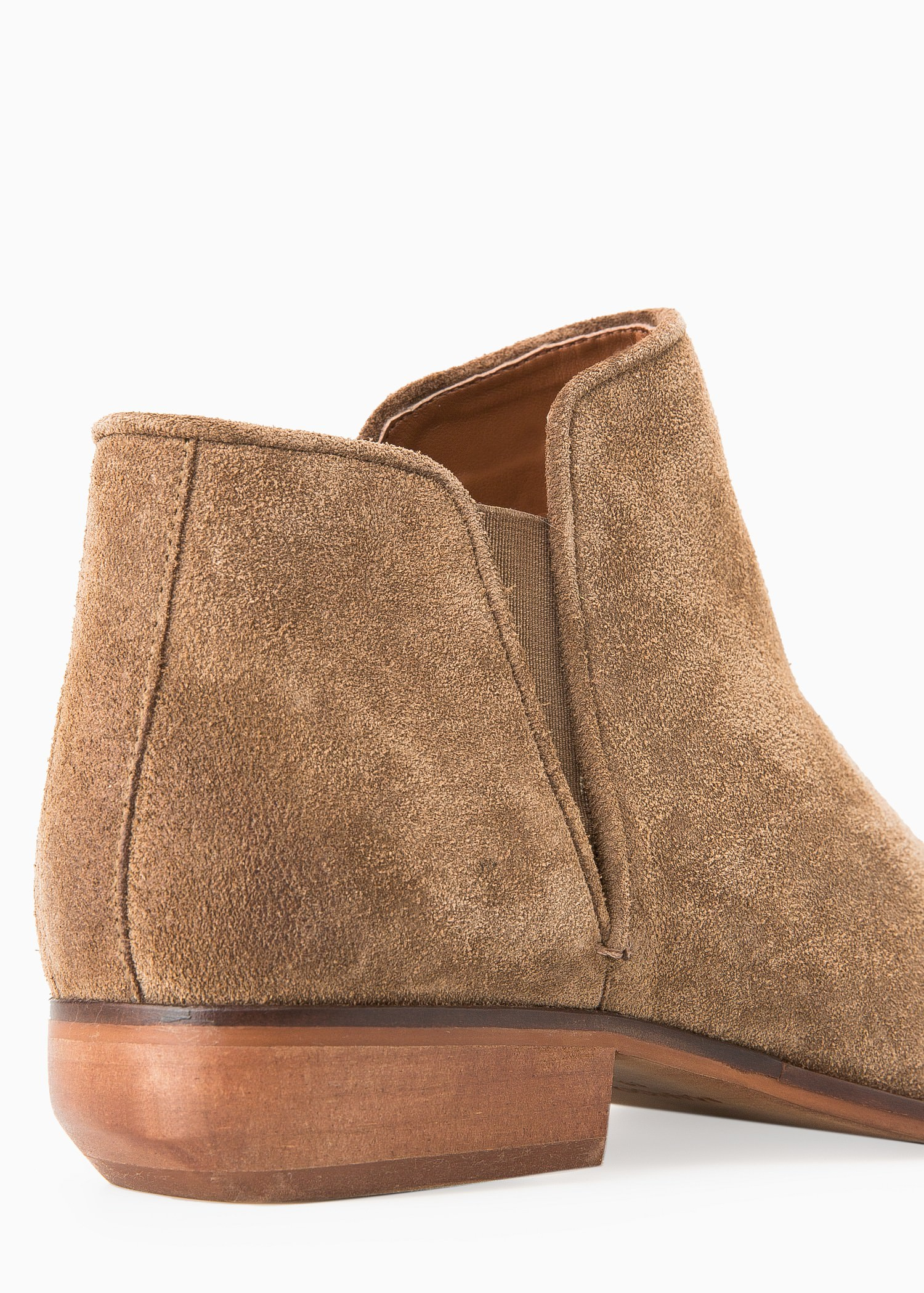 Brown Suede Flat Ankle Boots Tsaa Heel