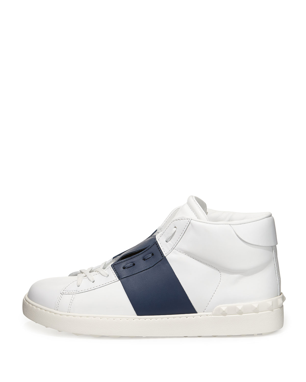 Valentino High Top Leather Sneaker zLC5GI5Pf