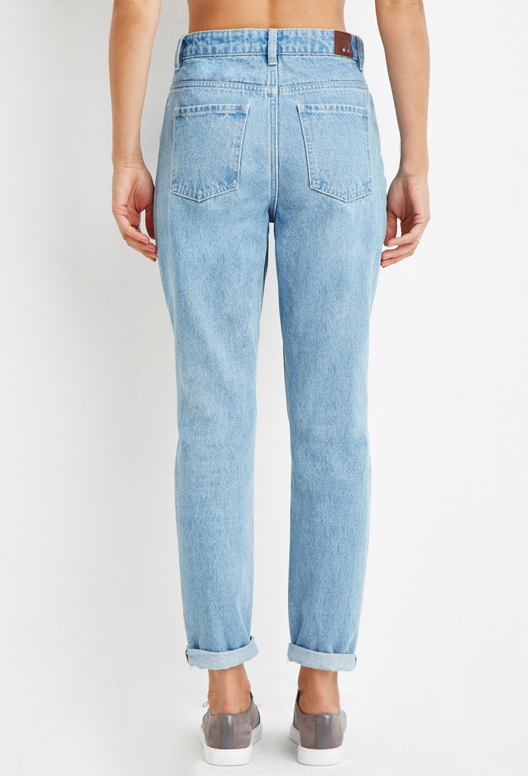Gallery - Forever 21 Contemporary Life In Progress High-waisted Ripped Jeans