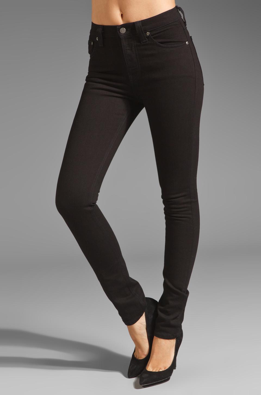 Lyst - Nudie Jeans High Kai Skinny in Black d488ad4e7