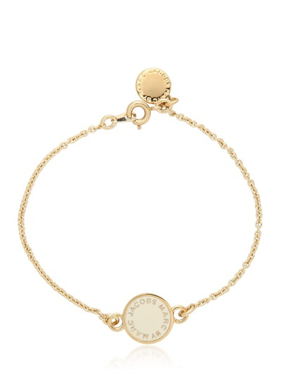 marc by marc jacobs classic marc enamel disc bracelet in white lyst. Black Bedroom Furniture Sets. Home Design Ideas
