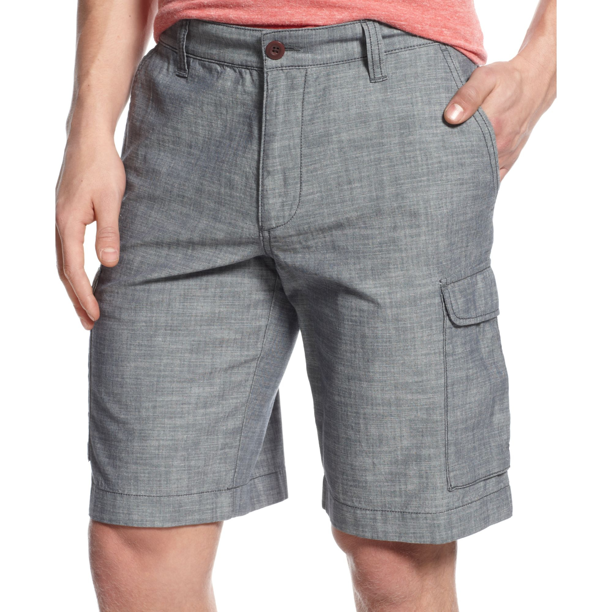 e1980e18e7 Tommy Hilfiger Berlin Chambray Cargo Shorts in Gray for Men - Lyst