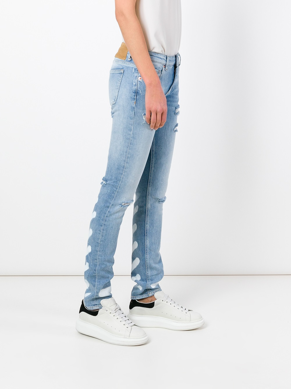 Off-white c/o virgil abloh Skinny Jeans in Blue | Lyst