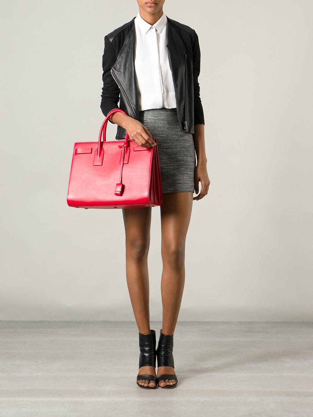 cheap yves saint laurent shoes - sac de jour nano satchel bag, red