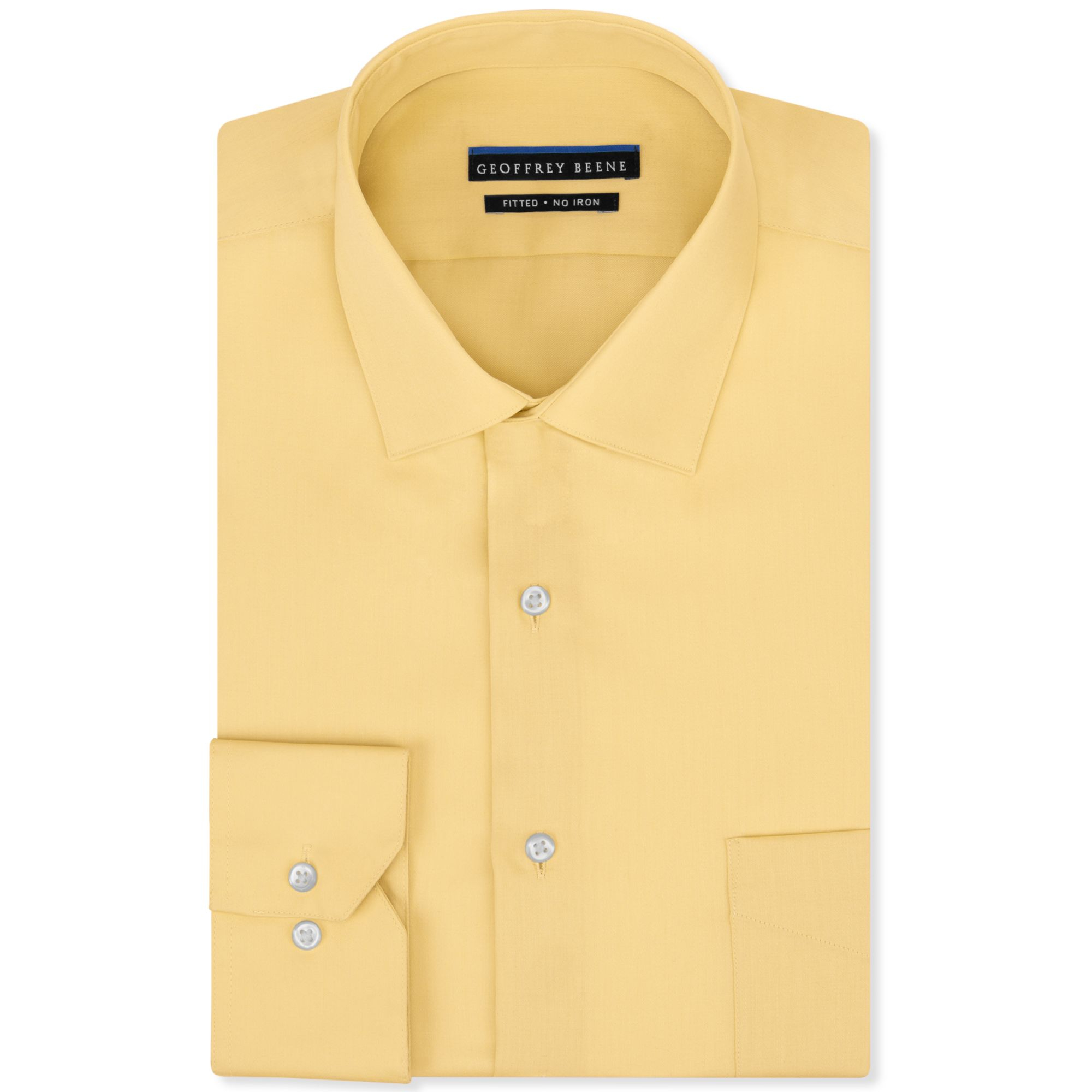 83bf362d8b2 Geoffrey Beene Men s Fitted Non-iron Stretch Sateen Dress Shirt in ...