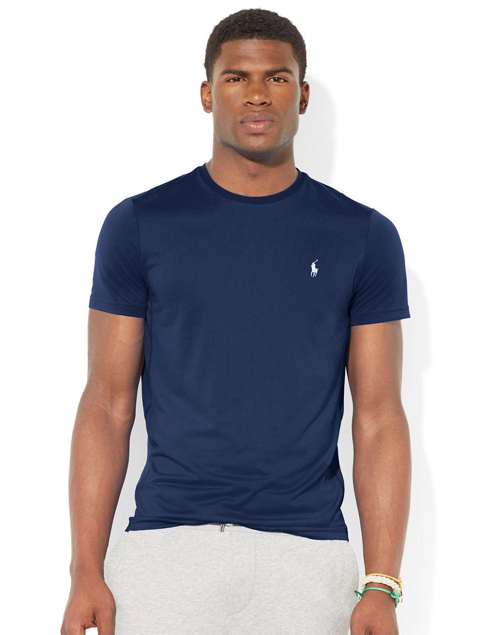 696bd514 Polo Ralph Lauren Performance Jersey Crewneck T-Shirt in Blue for ...