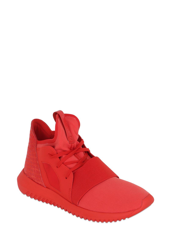 lyst adidas originali tubulare defiant neoprene scarpe in rosso