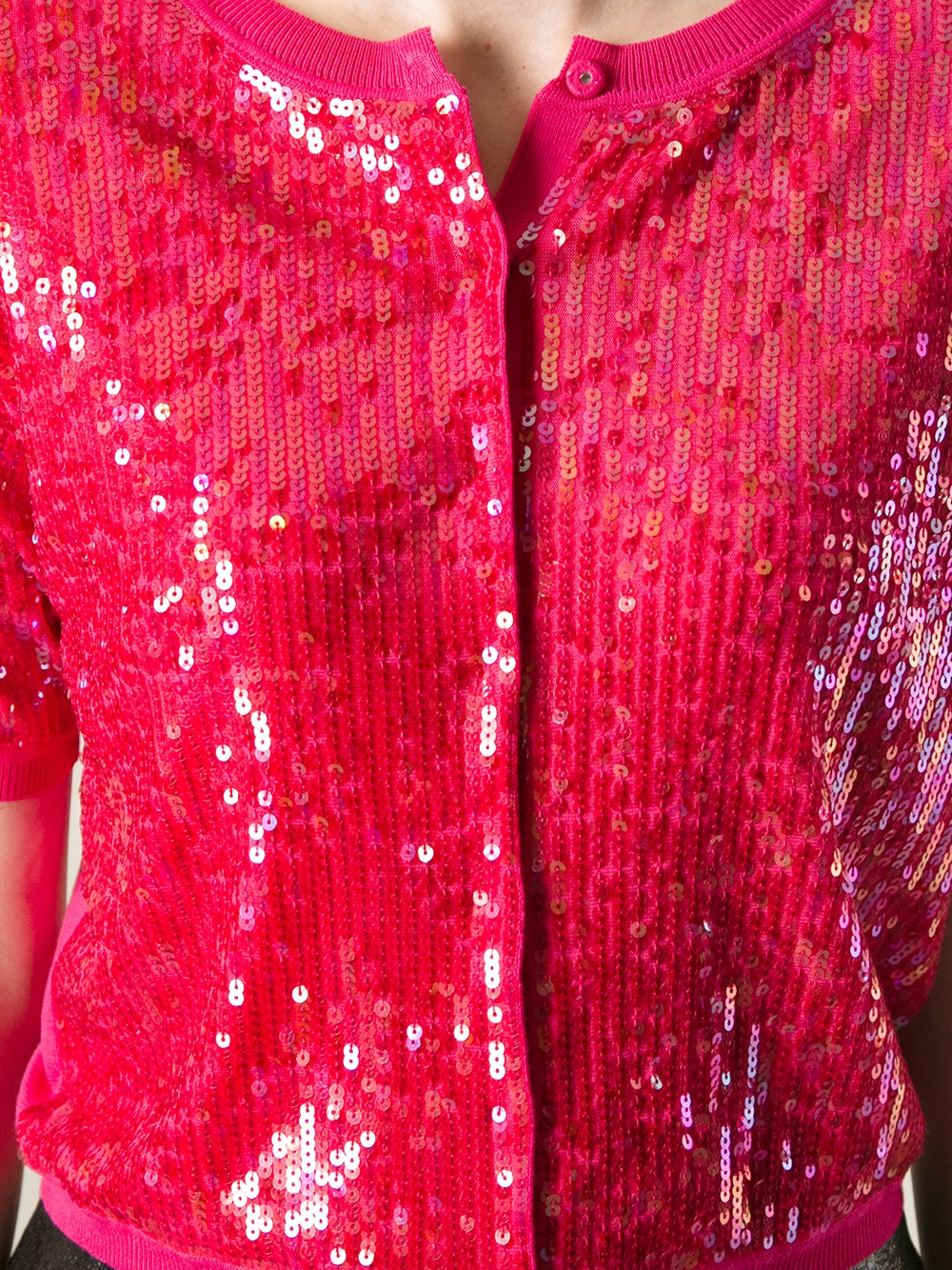 Twin set Sequin Cardigan in Pink | Lyst