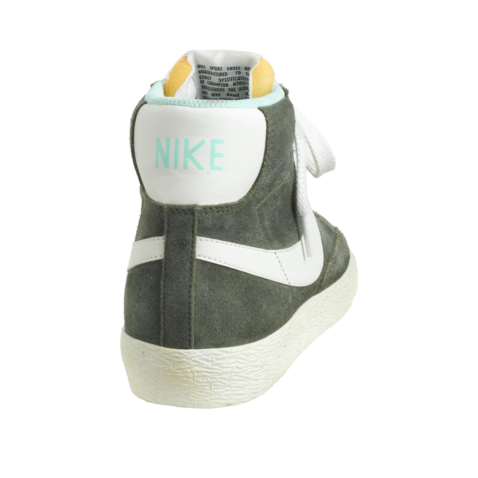 03d4da398 Lyst - J.Crew Women s Nike Suede Blazer Mid Vintage Sneakers in Green