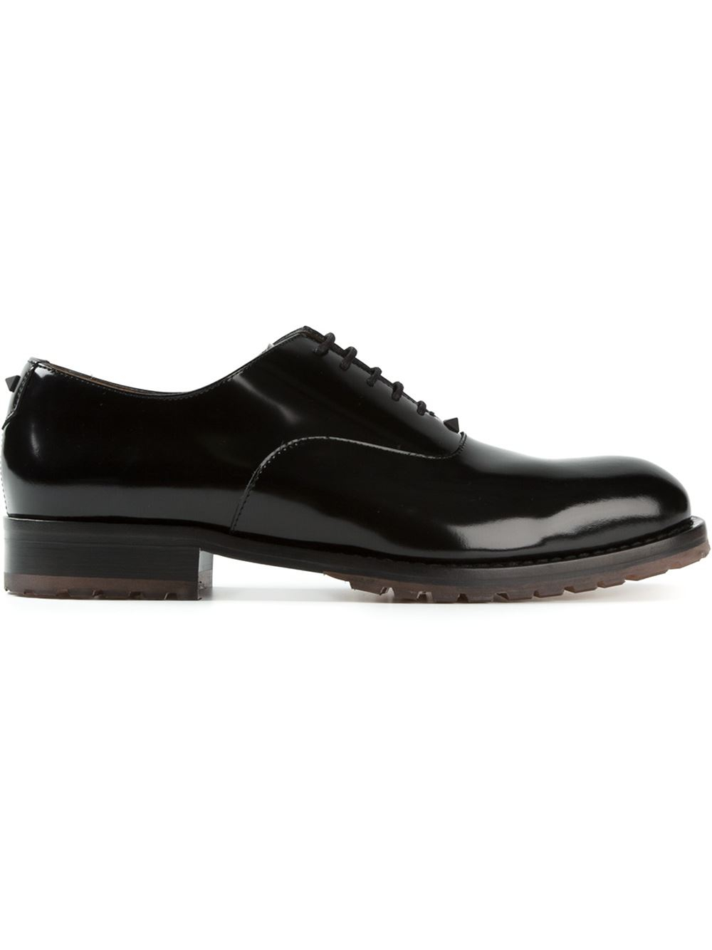 valentino classic oxford shoes in black for lyst