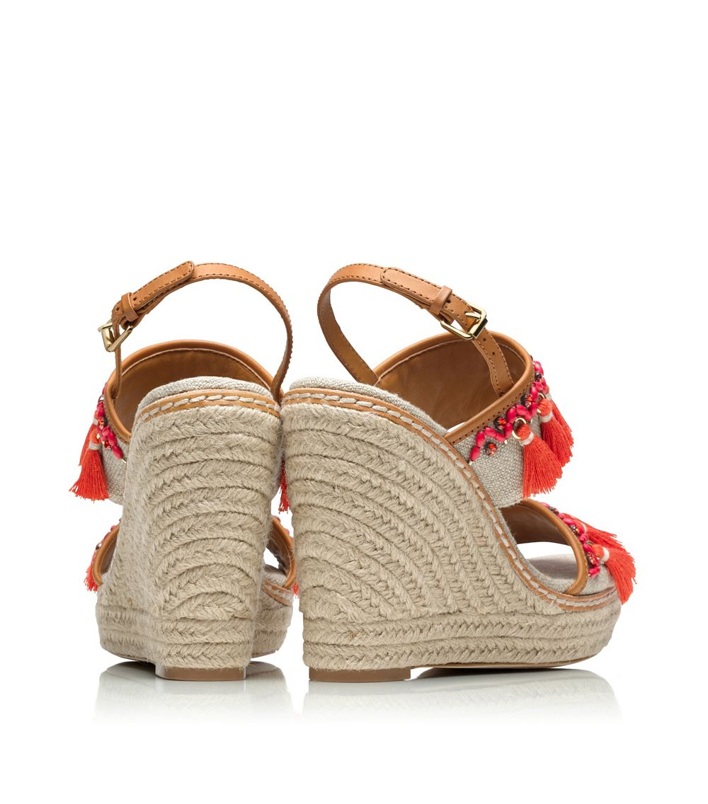 Tory Burch Niyah Espadrille Wedges outlet new styles outlet get to buy discount with credit card new arrival for sale cheap sale best store to get 9pgV0vtb