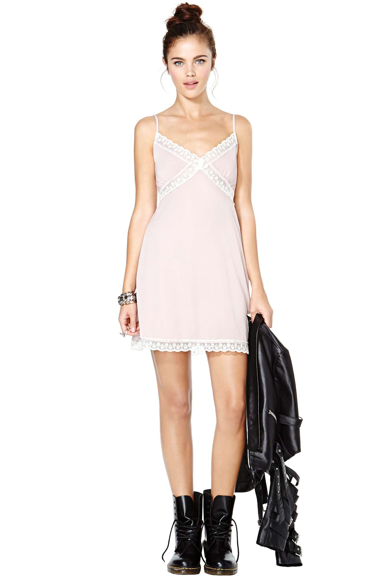 Nasty gal Freudian Slip Dress in Pink | Lyst