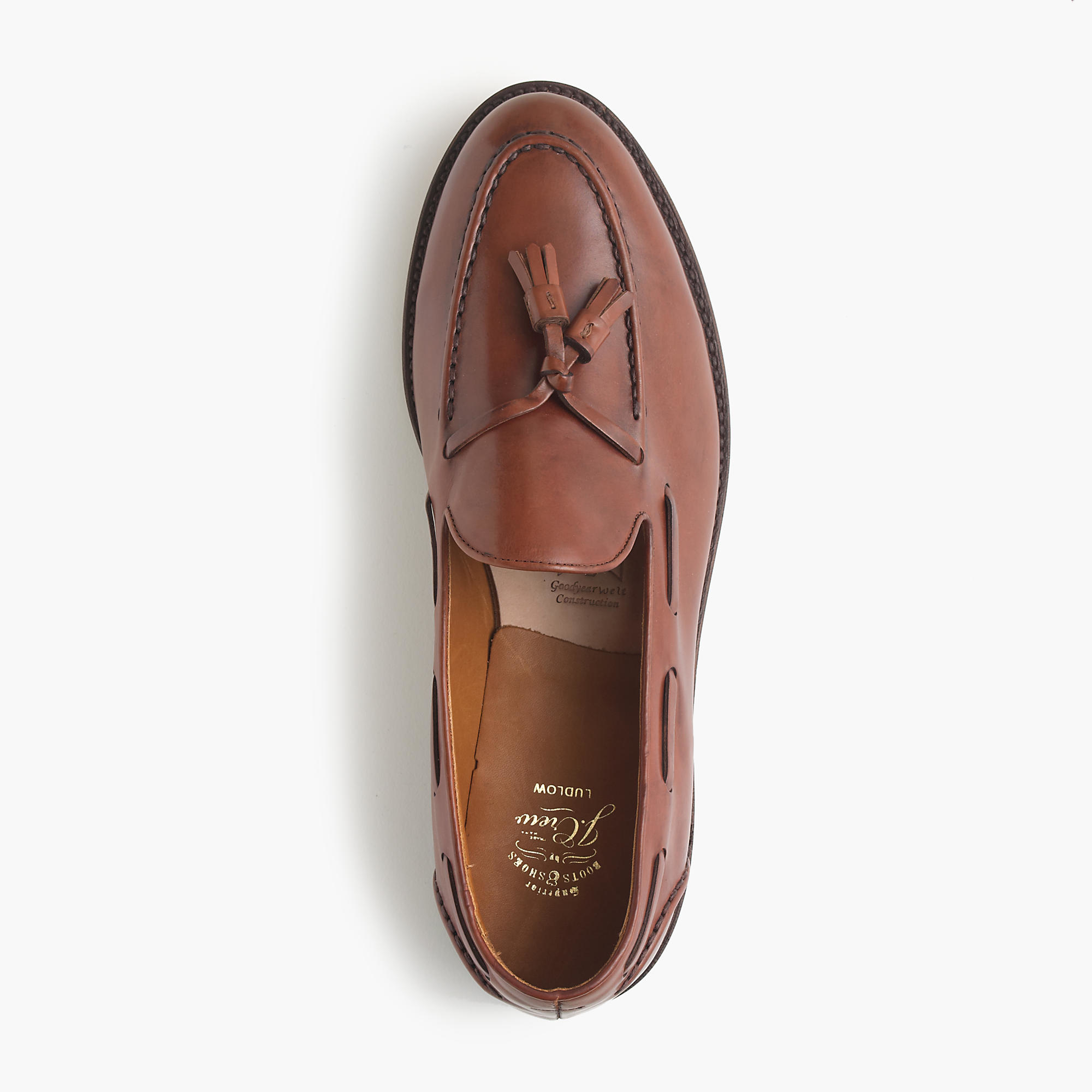 284bc1708a3 Lyst - J.Crew Ludlow Tassel Loafers in Brown for Men