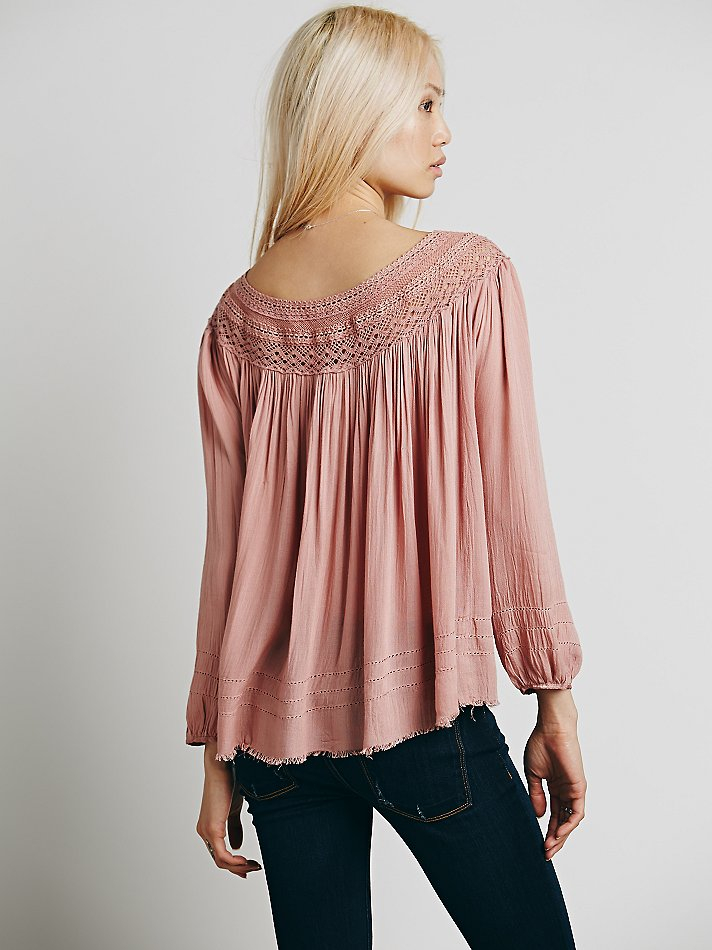 fa366f126b0 Free People Fp One Eyes Open Top in Pink - Lyst