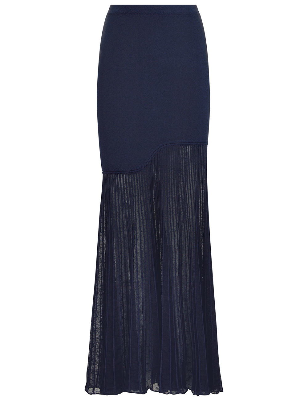 cedric charlier navy ponte drop pleated skirt in blue lyst