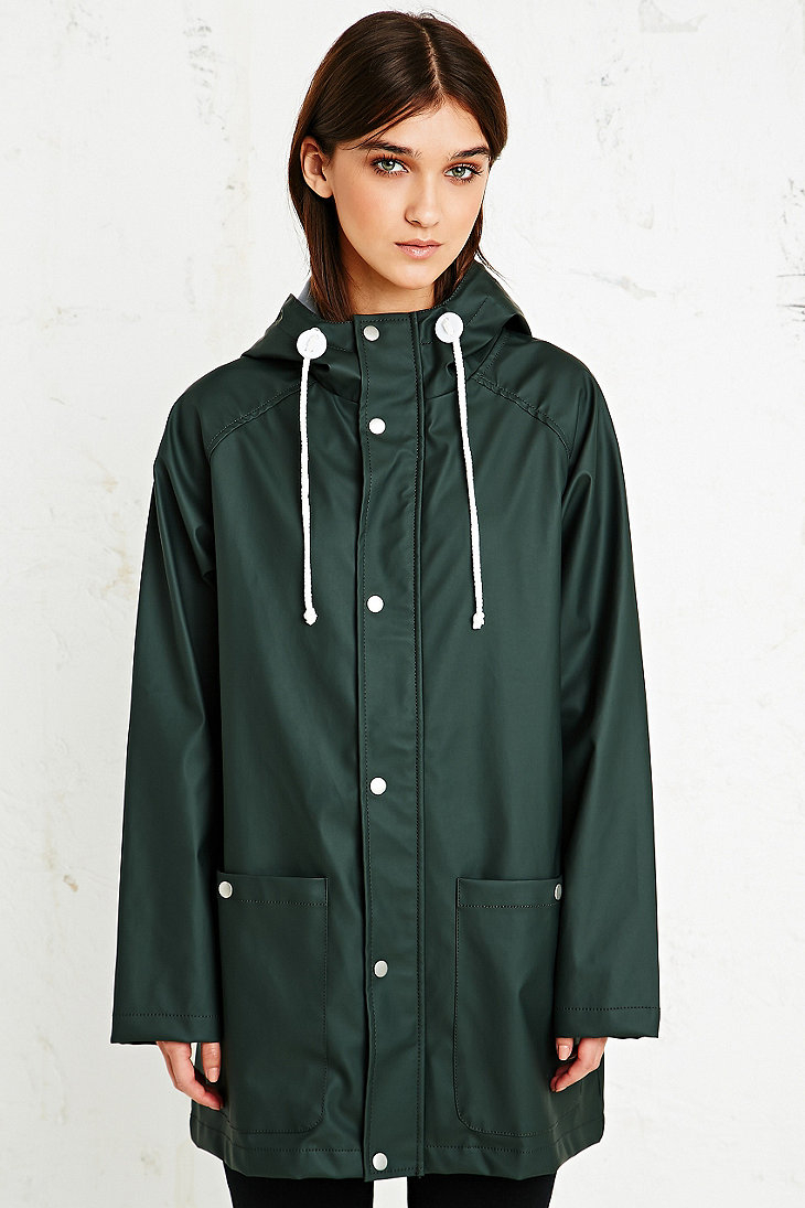 Bdg Fisherman Rain Jacket in Khaki in Green | Lyst
