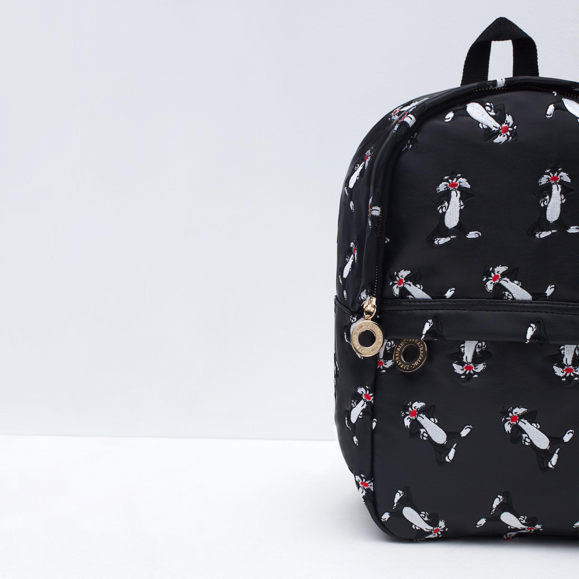 Zara Looney Tunes Backpack In Black Lyst