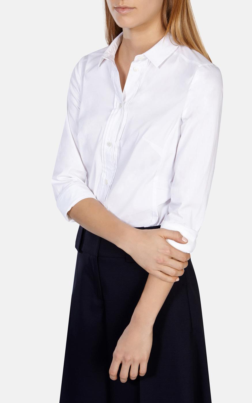 ada60c91c00d Karen Millen Tailored White Shirt in White - Lyst