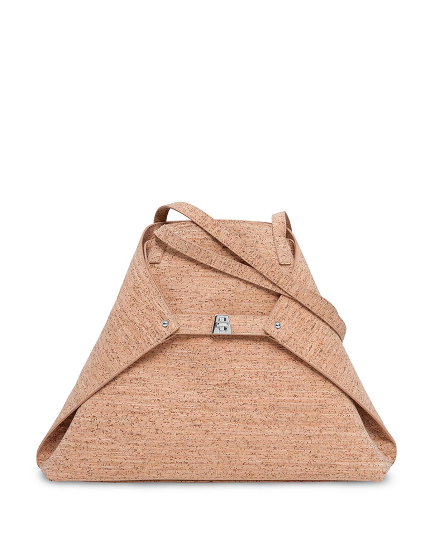 Lyst - Akris Ai Medium Cork Shoulder Bag in Natural 67e7421bb7