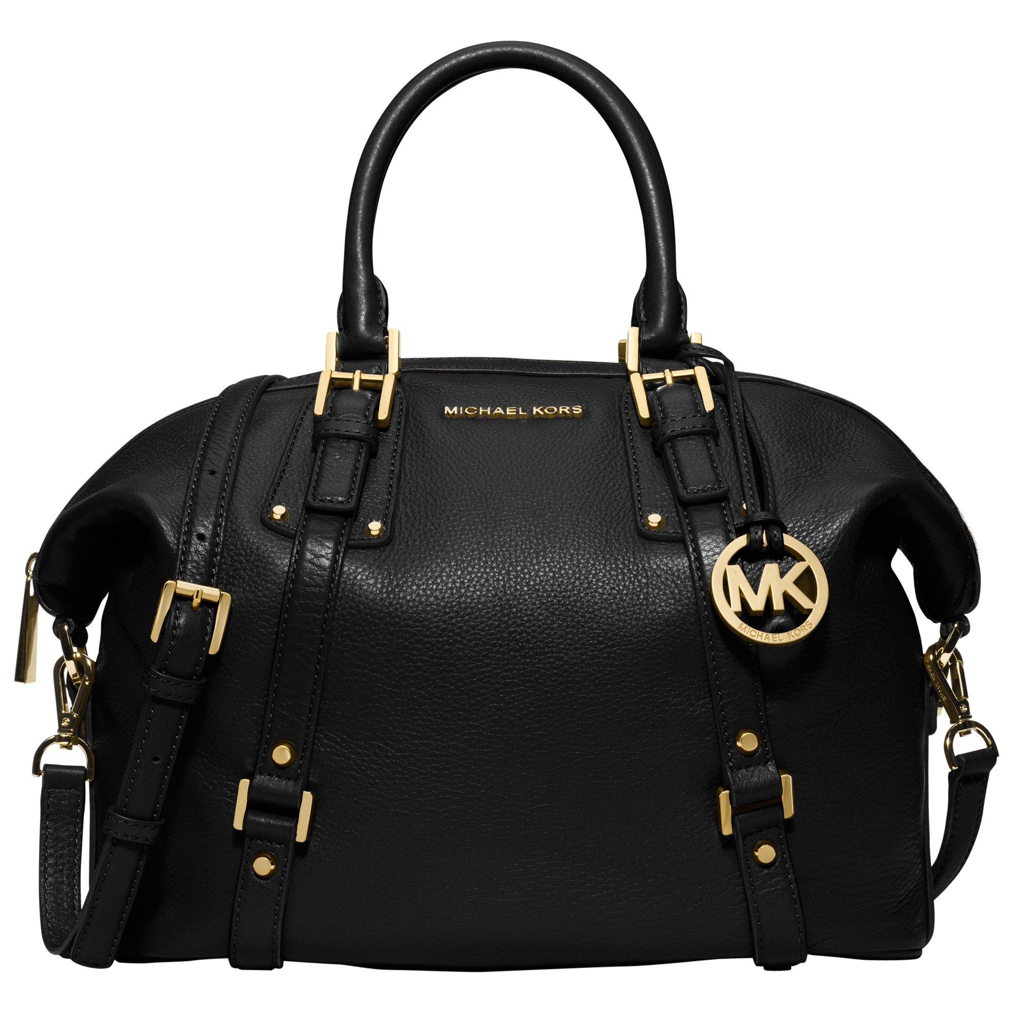 1d08dc3e8edc MICHAEL Michael Kors Bedford Belted Large Leather Satchel in Black ...