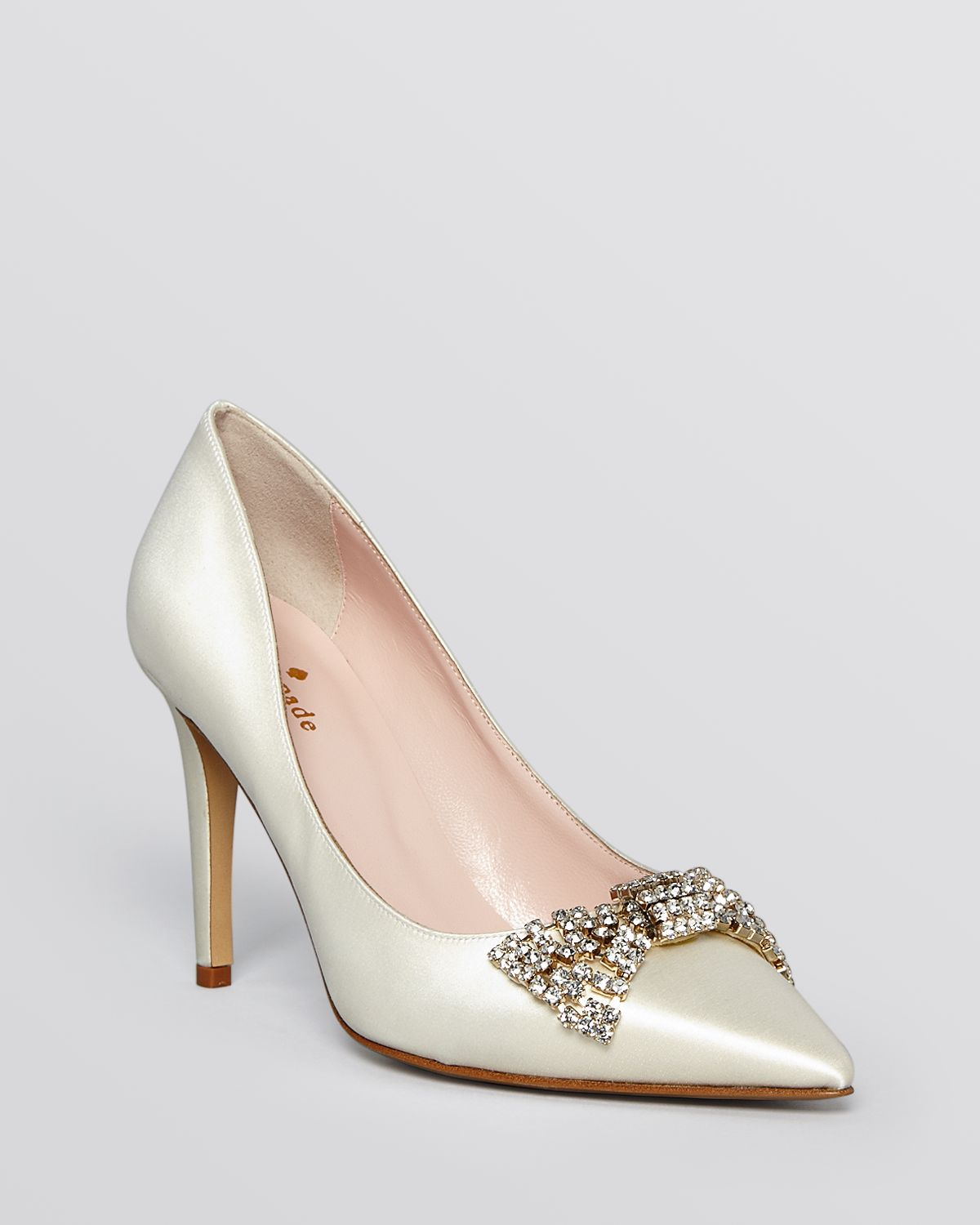 7e583cf61095 Lyst - Kate Spade Pointed Toe Evening Pumps - Pez High Heel in White