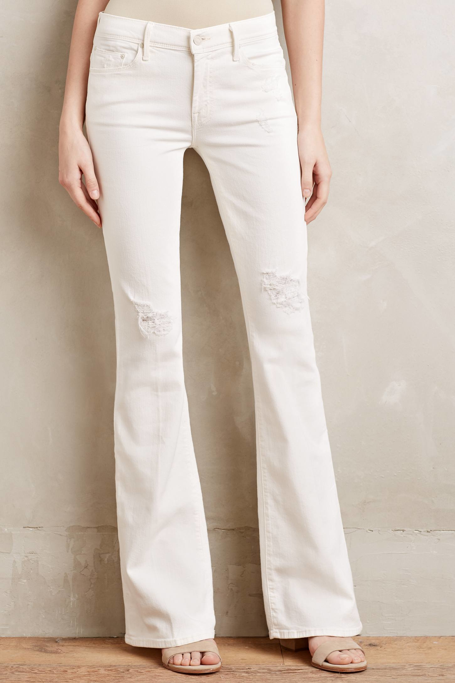 Mother Cruiser Flare Jeans in White | Lyst