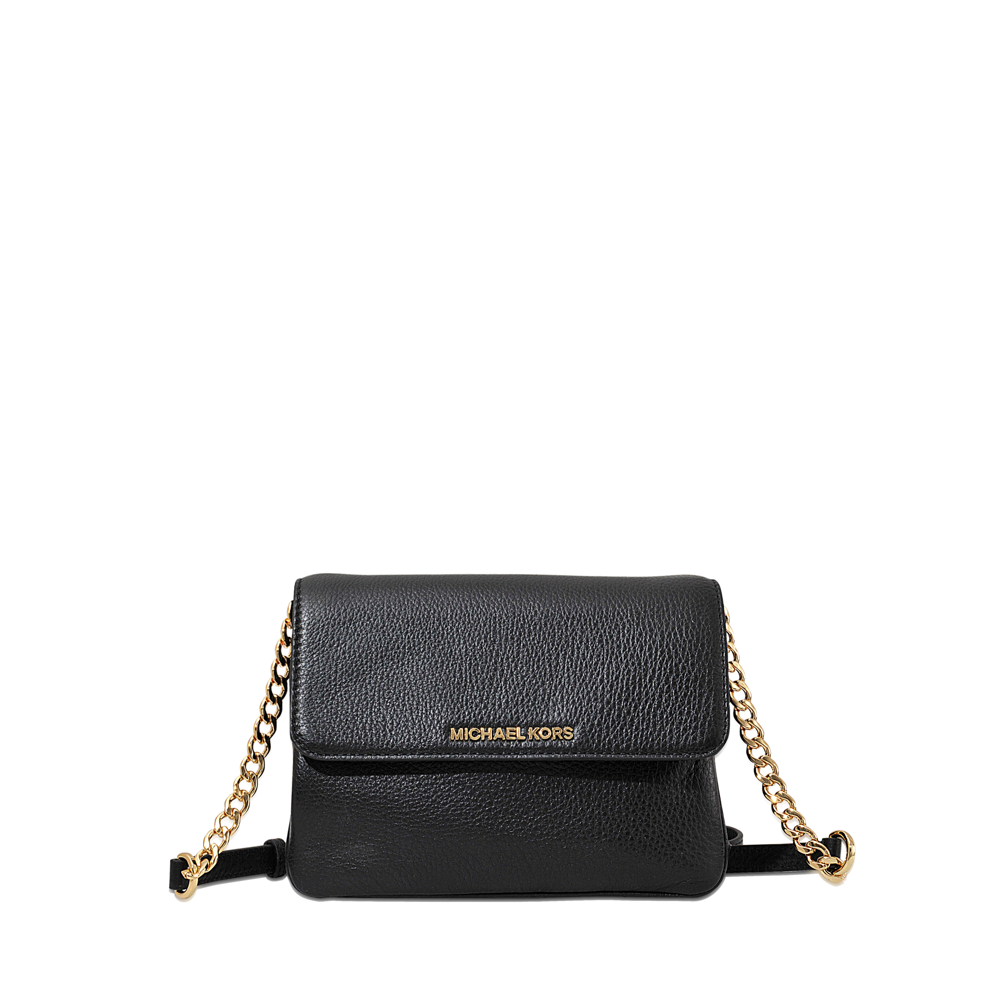 e78d6358a323 MICHAEL Michael Kors Bedford Double Gusset Crossbody in Black - Lyst