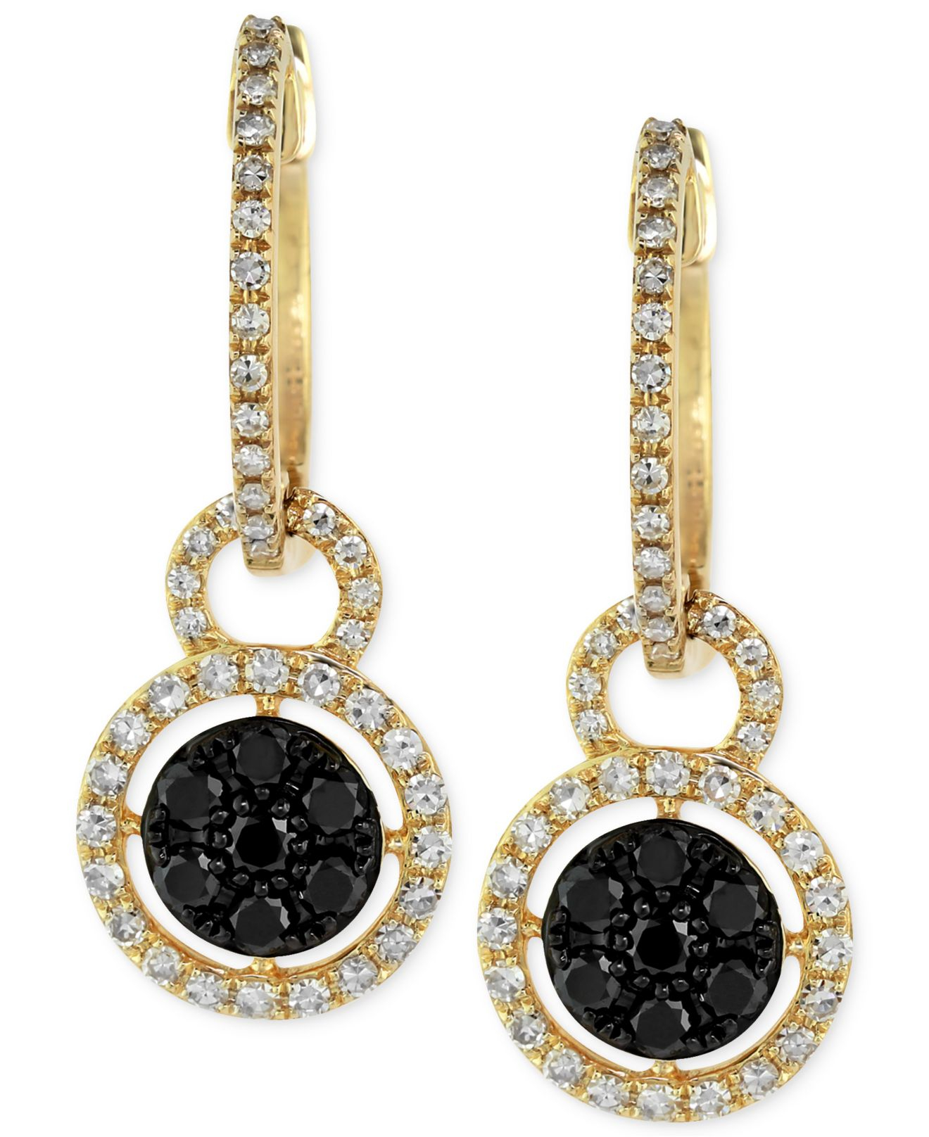 Effy collection Caviar By Effy Black And White Diamond Drop