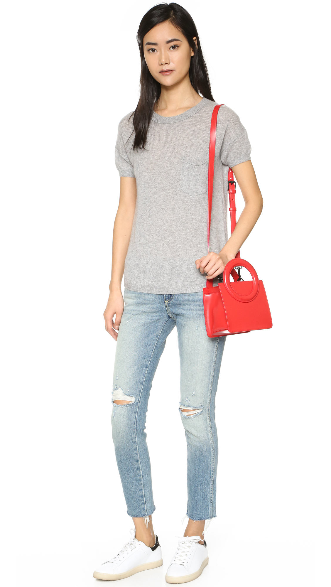 Opening Ceremony Fall 2015: Opening Ceremony Lynx Cross Body Bag In Red