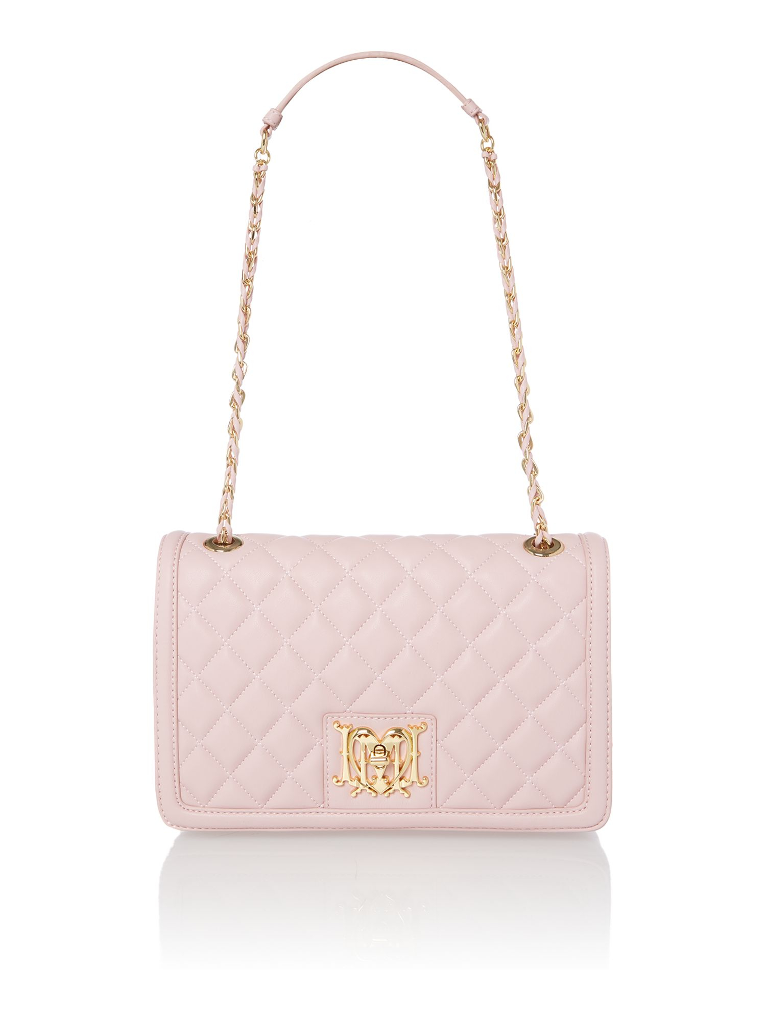 Love moschino Pale Pink Medium Quilt Flapover Shoulder Bag in Pink ...