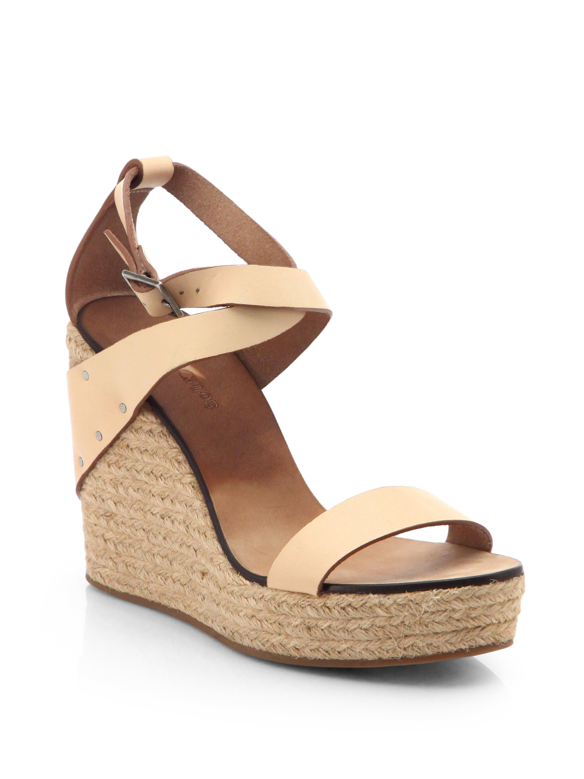 7519cfa6533b Lyst - See By Chloé Leather Espadrille Wedge Sandals in Natural