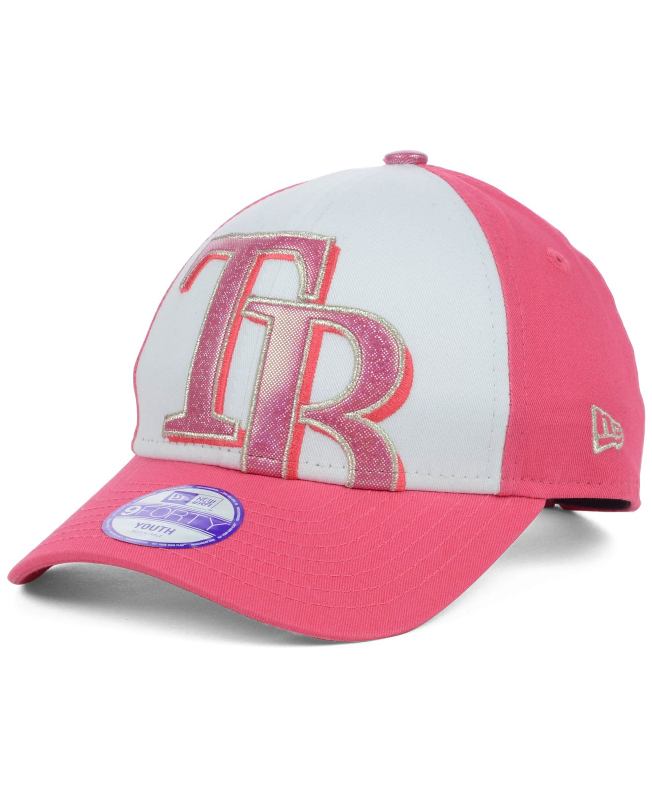 online retailer d9108 90617 Lyst - KTZ Kids  Tampa Bay Rays Glitter Filler 9forty Cap in Pink