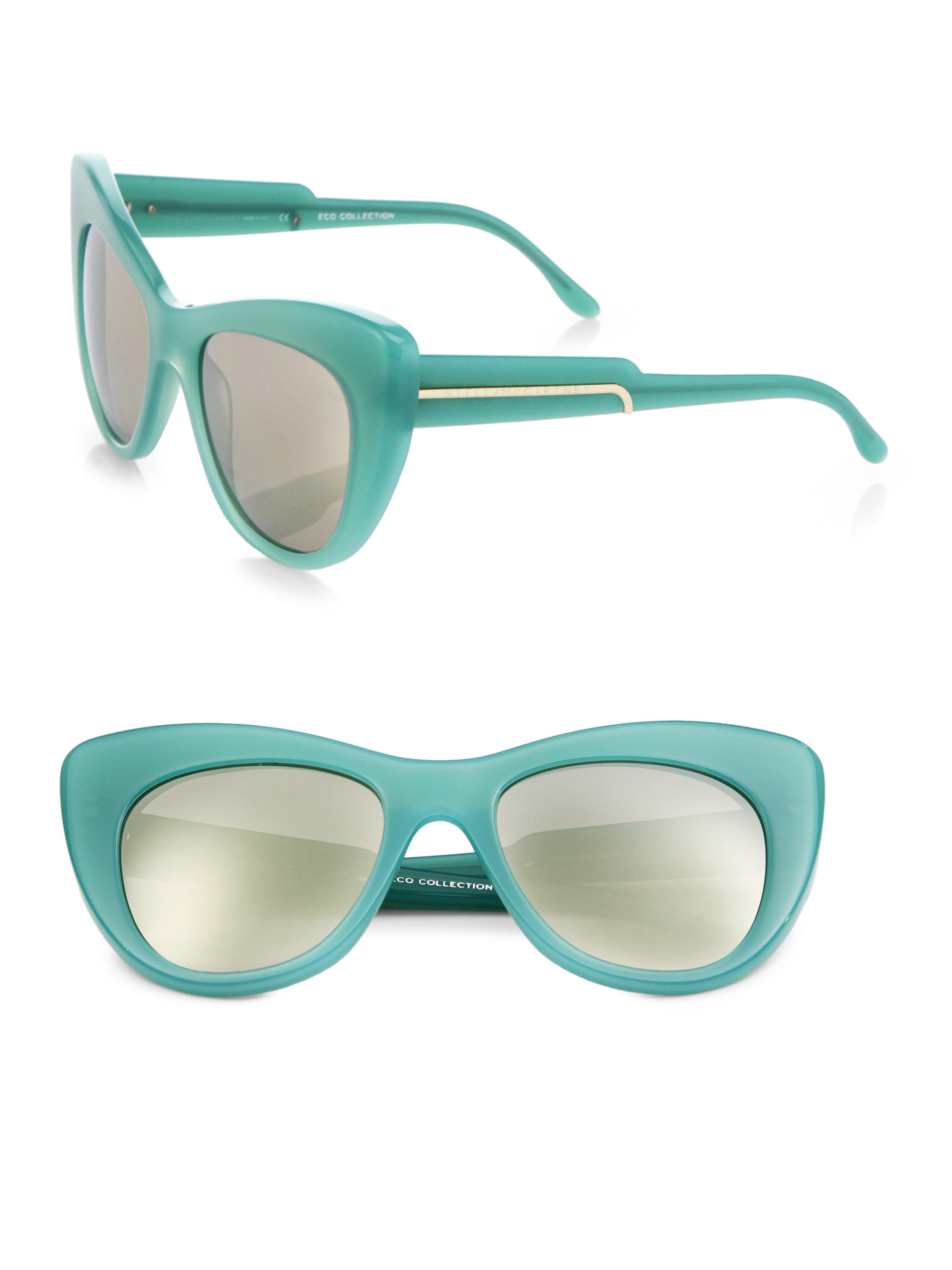 a94430f054b Lyst - Stella McCartney Oversized 54Mm Cat S-Eye Sunglasses in Blue