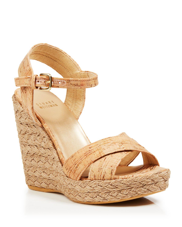 stuart weitzman platform wedge sandals numinx cork