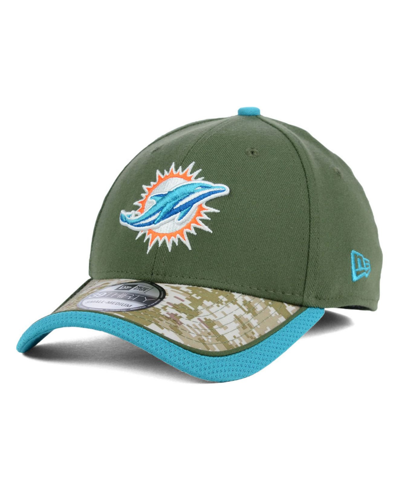 ... coupon code for lyst ktz miami dolphins salute to service 39thirty cap  in green 46ae8 b83d0 d9e3a53b8